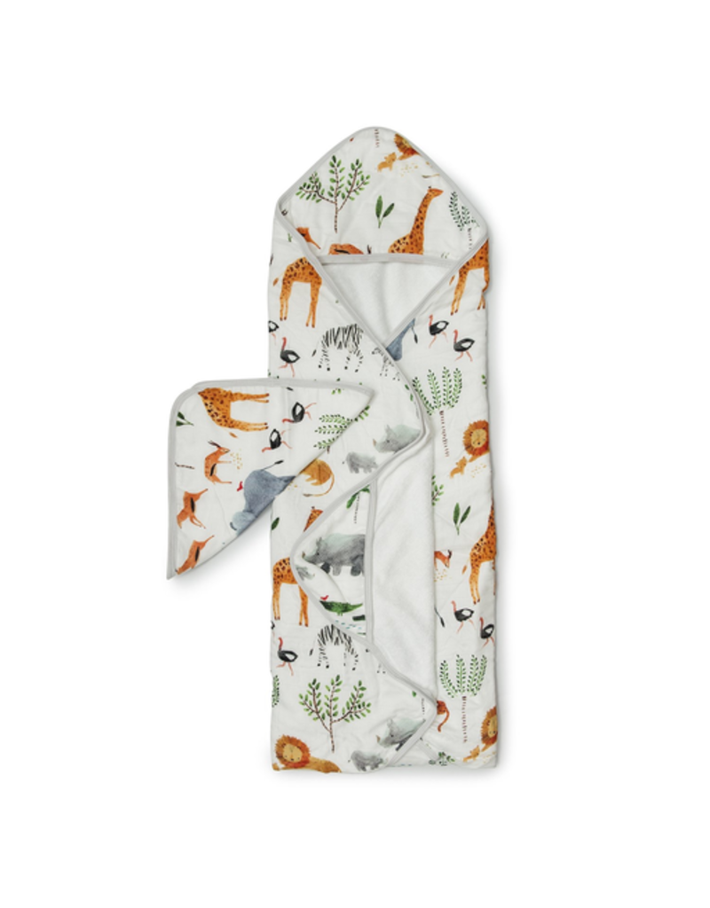 Loulou Lollipop Safari Hooded Towel & Cloth