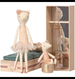 Maileg Dancing Cat & Mouse in Shoebox