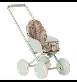 Maileg Baby Mouse Stroller, Sky Blue
