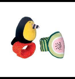 Manhattan Toys Fruity Paws Wrist Rattles