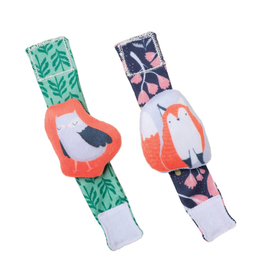 Manhattan Toys Camp Acorn Owl & Fox Wrist Rattle Set