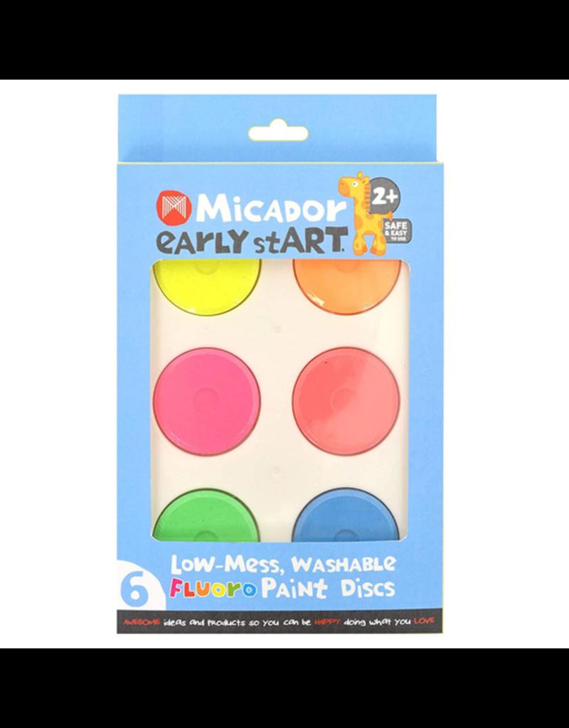Low-Mess Washable Fluro Paint Discs