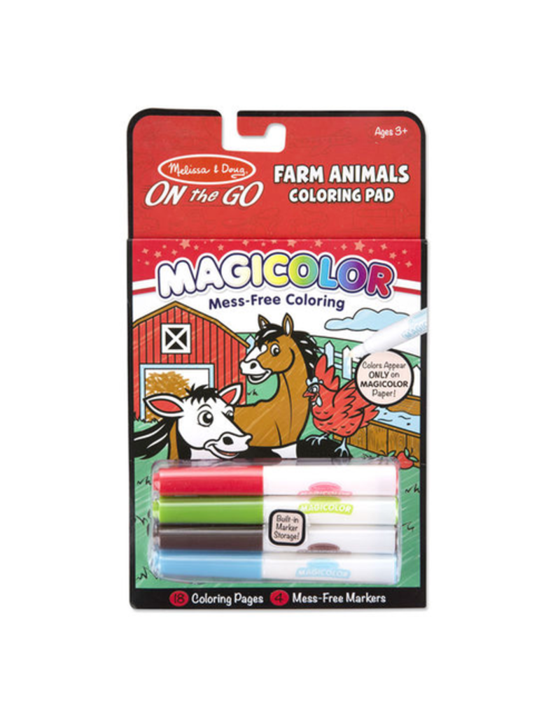 Melissa & Doug Farm Animals Magicolor - On the Go Travel Activity
