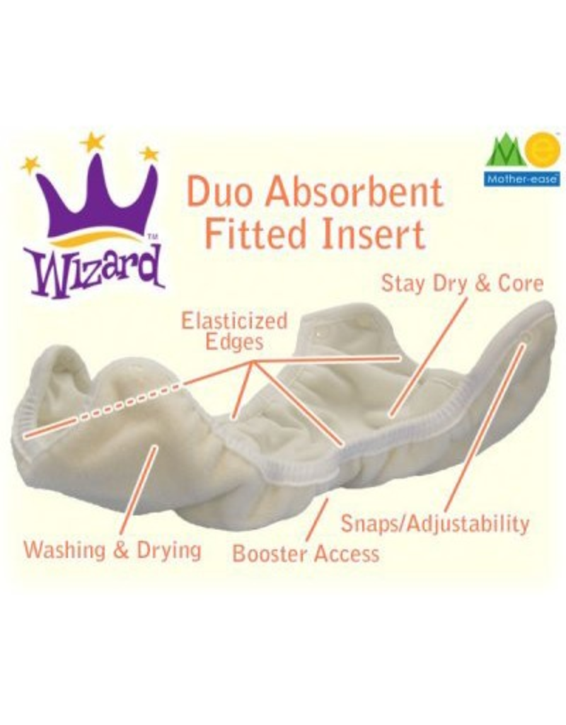 Mother-Ease Mother-Ease Wizard Duo Insert, Stay Dry Xs-Sm