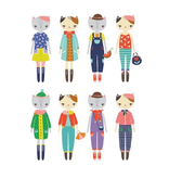 Mudpuppy Cat Fashion Magnetic Figures