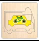 Mudpuppy Transportation 4 Layer Wood Puzzle, 2y+
