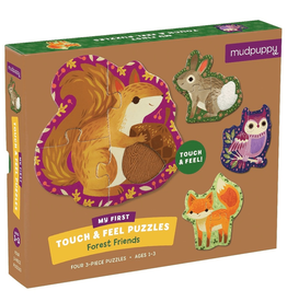 Mudpuppy Touch & Feel Puzzle Forest Friends 12m+