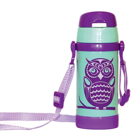 Native Northwest Owls Insulated Water Bottle