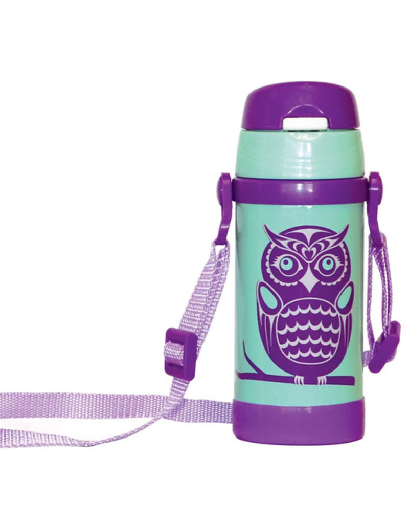 Native Northwest Owls Insulated Water Bottle