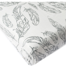 Crib Sheet Feather White