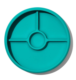 OXO Tot Silicone Divided Plate - Teal