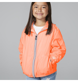 O8 Lifestyle Packable Rain Jacket Orange Fluro