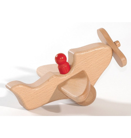 Ostheimer Wooden Toys Airplane Natural w/1 Person
