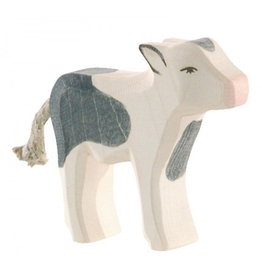 Ostheimer Wooden Toys Cow Calf B&W Standing