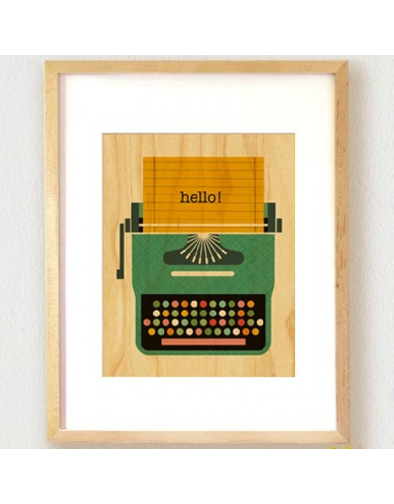 Petit Collage Typewriter Print 8.5x11
