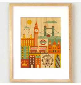 Petit Collage London Print 11x14