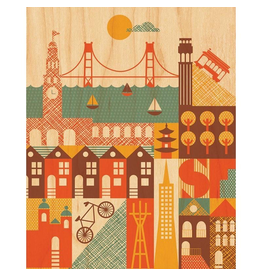 Petit Collage San Francisco Print 11x14