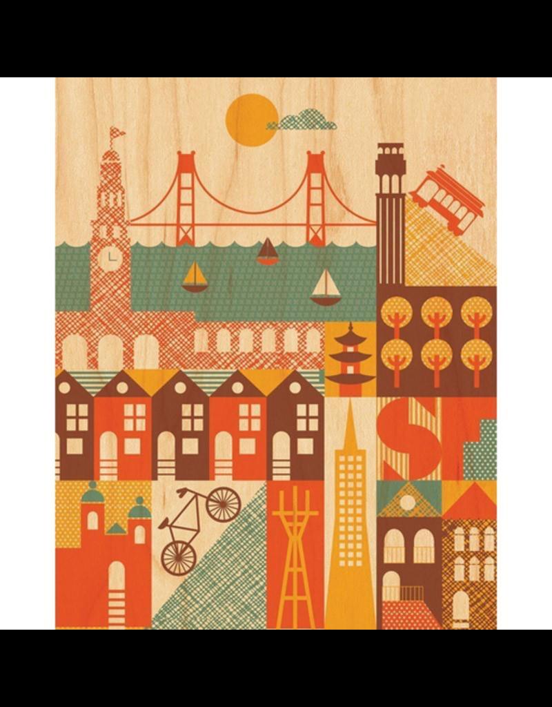 Petit Collage San Francisco Print 11x14