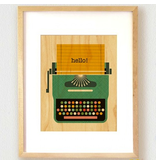 Petit Collage Typewriter Print 11x14