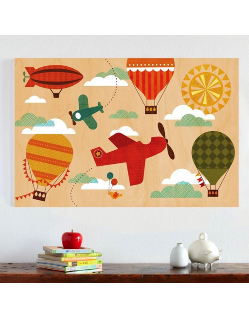 Petit Collage Jumbo Wood Panel - By Air