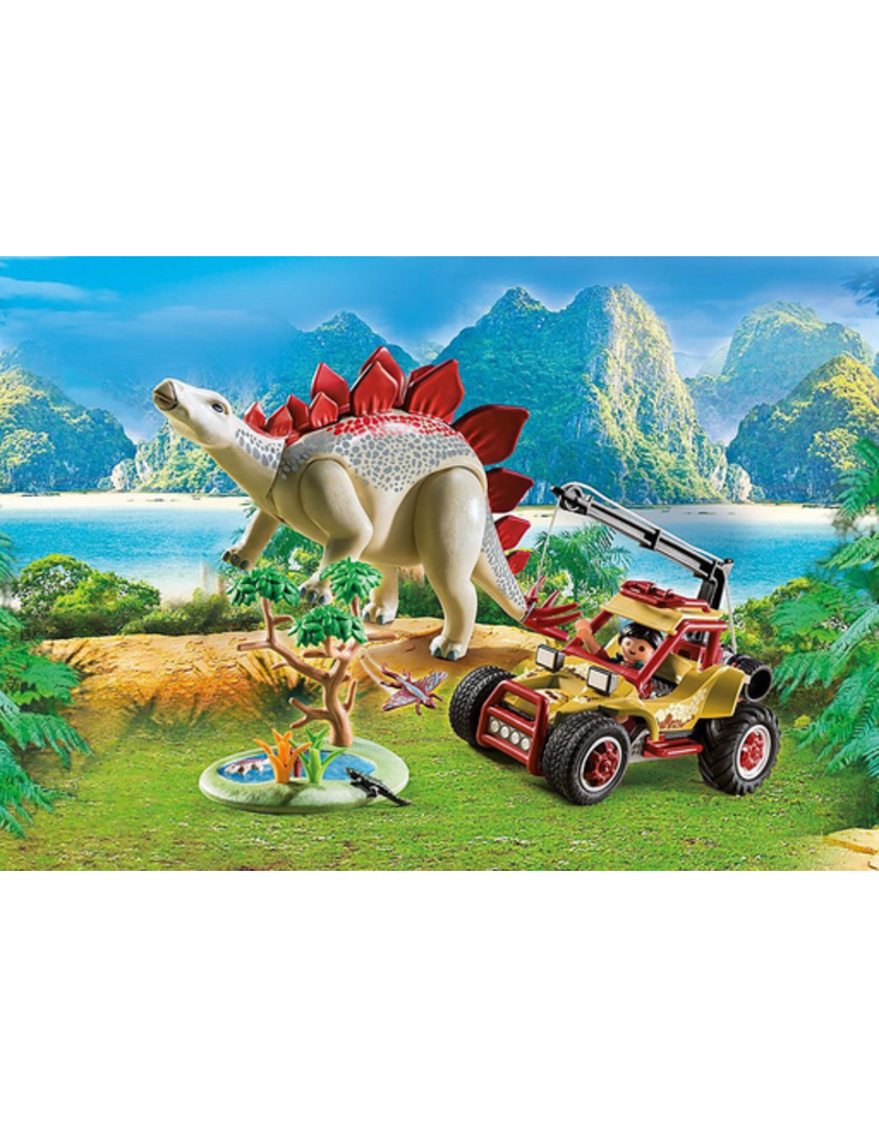 Playmobil Explorer Vehicle With Stegosaurus