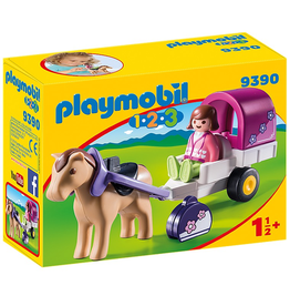 Playmobil Playmobil 1.2.3 Horse-Drawn Carriage