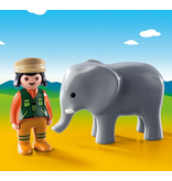 Playmobil Zookeeper with Elephant 1.2.3