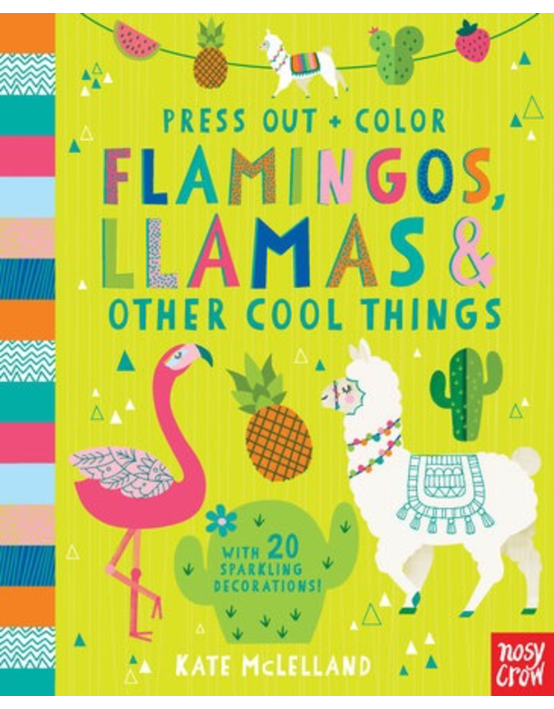 Random House Press Out and Color: Flamingos, Llamas & Other Cool Things
