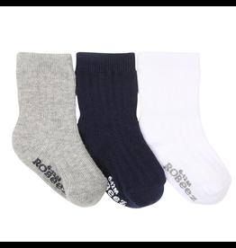 Robeez Shoes Boy's Sock 3pk - Basics