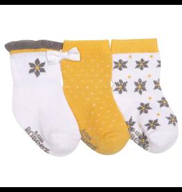 Robeez Shoes Girl's Sock 3pk - Geo Flowers 6-12m