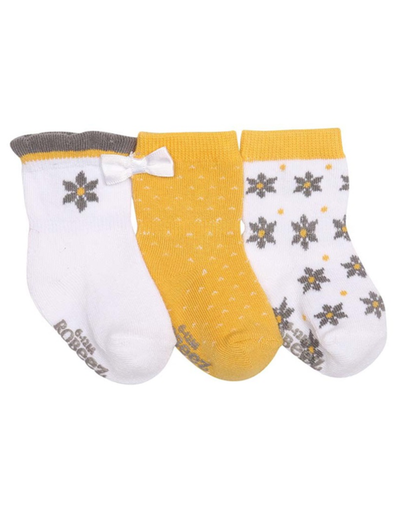 Robeez Shoes Girl's Sock 3pk - Geo Flowers