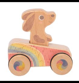 Schylling Dash Hound - Rainbow Roller 12m