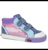 See Kai Run Kya Chambray/Pink Hightops Size 5