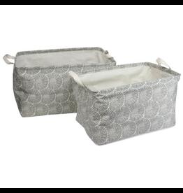 Chrysanthemum Canvas Basket Set