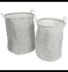 Chrysanthemum Cylinder Canvas Basket Set
