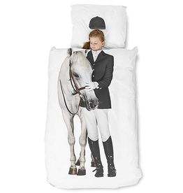 Snurk Twin Duvet Cover + Pillow - Equestrian