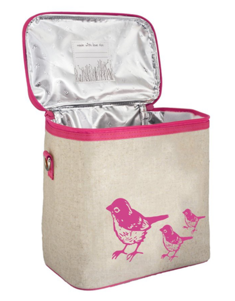 So Young Pink Birds Small Cooler Bag