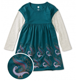 Tea Collection Peacock Layered Dress
