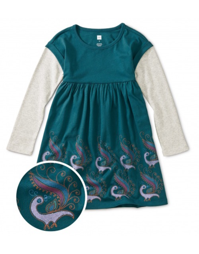 Tea Collection Peacock Layered Dress