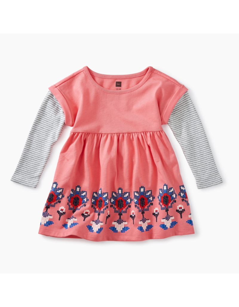 Tea Collection Baby Layered Sleeve Baby Dress