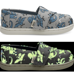 Toms Glow-in-the-Dark Dinos Alpargata Tiny Shoes