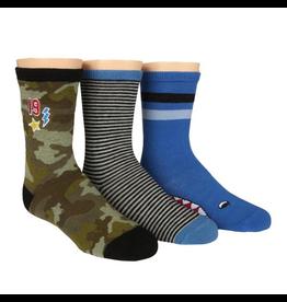 Stride Rite Preston Patches Crew Socks 3pk