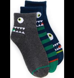 Stride Rite Mason Monster Quarter Socks 3pk