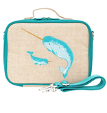 So Young Teal Narwhal Lunchbox