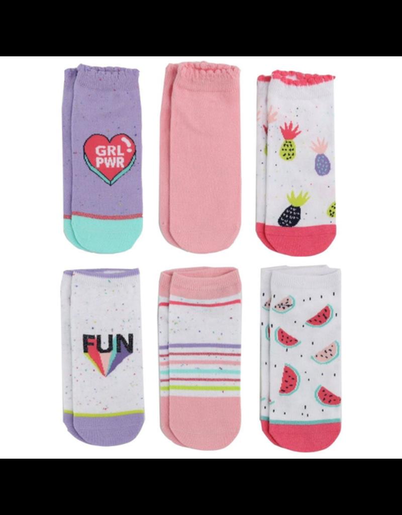 Stride Rite Frances Fleck No Show Socks 6pk