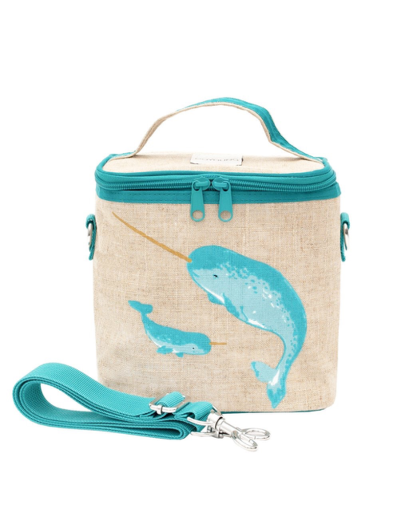 So Young Teal Narwhal Small Cooler Bag