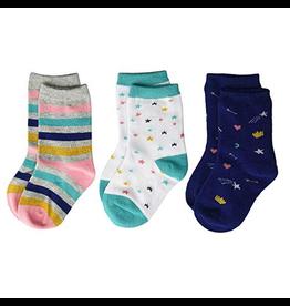 Stride Rite Lucky Lainey Crew Socks 3pk