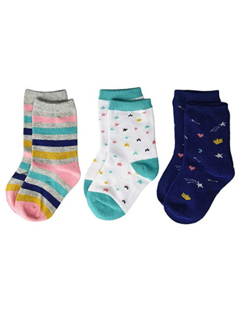 Stride Rite Lucky Lainey Crew Socks 3pk