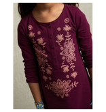 Tea Collection Cosmic Berry Henley Dress Size 4