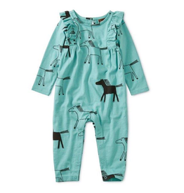 Tea Collection Highland Ruffle Romper 12-18m